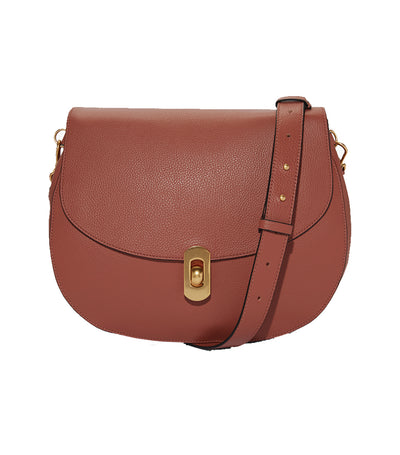 coccinelle zaniah crossbody bag brown