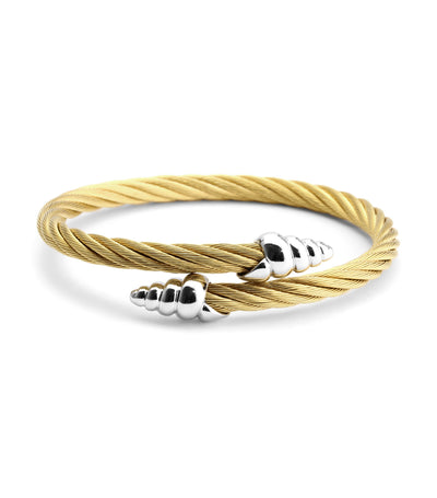 Bangle Celtic Coquille Yellow Gold