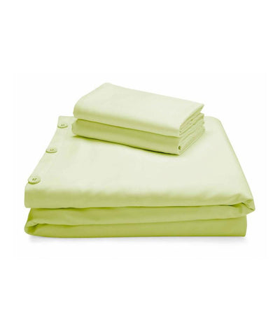 malouf woven™ rayon from bamboo duvet set - citron
