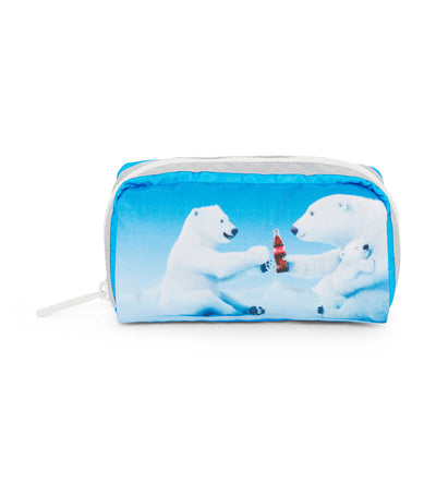 Coca-Cola x LeSportsac Rectangular Cosmetic Share a Coke Blue