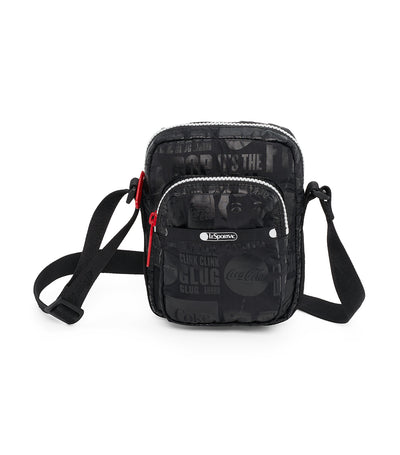 Coca-Cola x LeSportsac Charlie Crossbody It's the Real Thing Black
