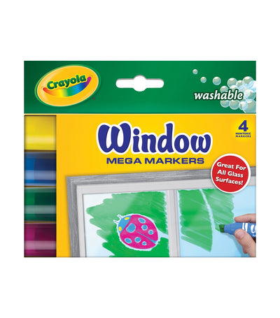 crayola washable window markers 4 count secondary