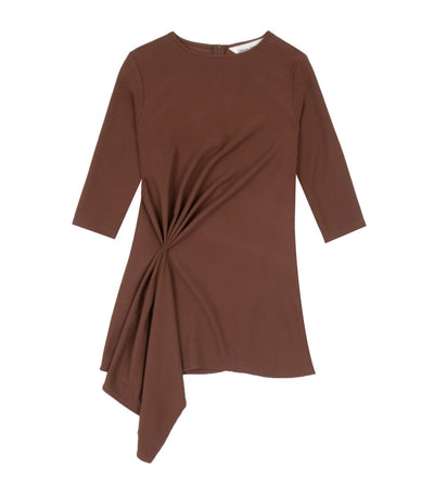 Criselda Conchita Draped Tunic Blouse Brown