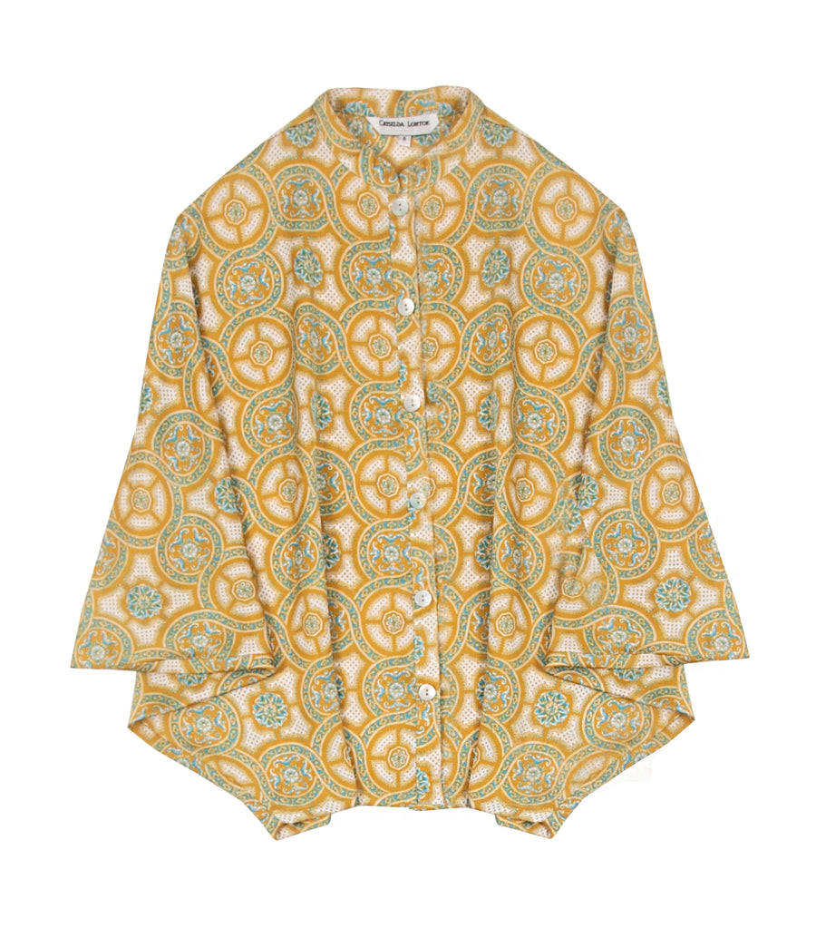 Criselda Richelle Printed Blouse Yellow