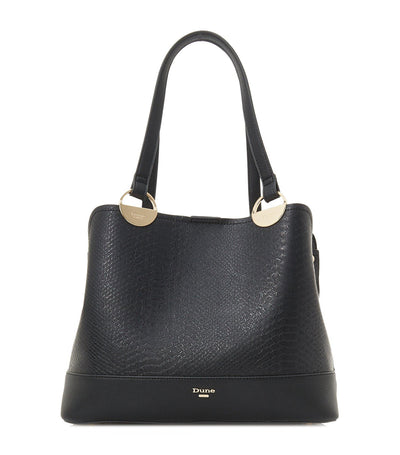 Damine Circle Trim Tote Bag Black