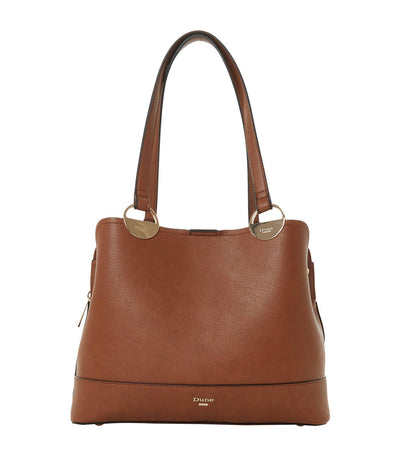 Damine Circle Trim Tote Bag Tan