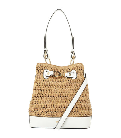 Daylla Duffel Straw Bag White
