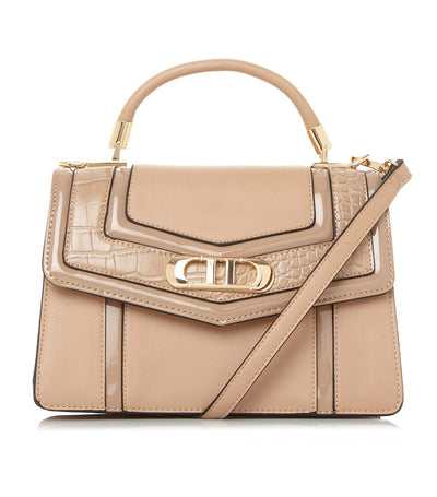 Debenie Green Panelled Grab Bag Cappuccino