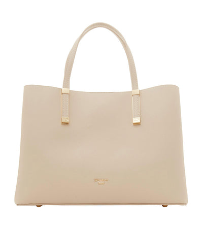 Dorrie Logo Hardware Tote Bag Off White