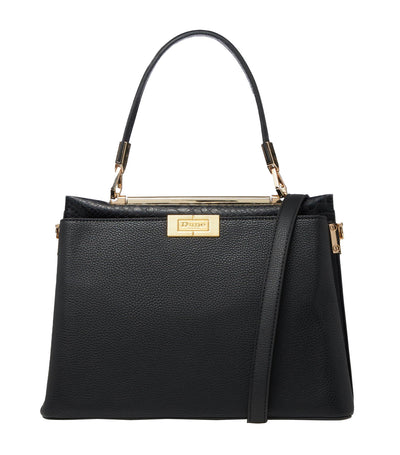 Ducie Contrast Trim Tote Bag Black