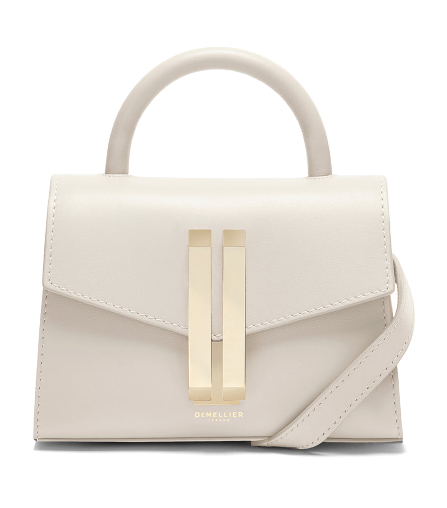 Nano Montreal Smooth Leather Crossbody Ivory