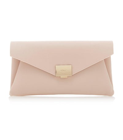 Envela Envelope Clutch Bag Nude