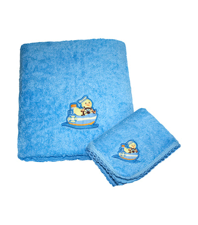 Face/Bath Towel - Blue