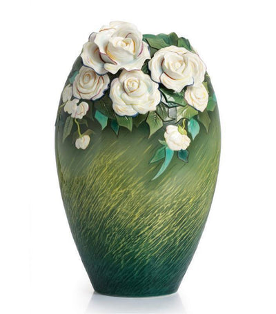 franz collection van gogh white roses large vase