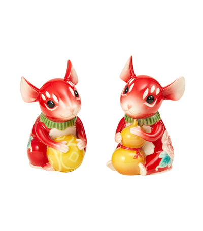 franz collection best of the best mice salt and pepper shakers