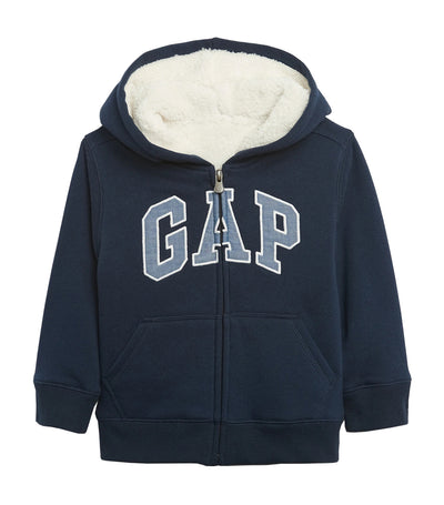 gap kids toddler cozy gap logo sherpa hoodie - blue galaxy
