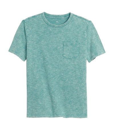 Kids Pocket Short Sleeve T-Shirt Turquoise Smoke