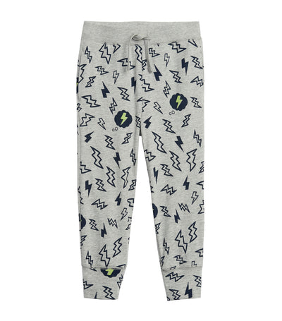 gap kids toddler print pull-on joggers - lightning heather grey