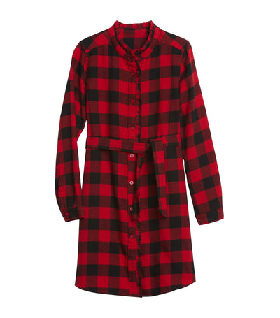 Kids Plaid Dress Modern Red