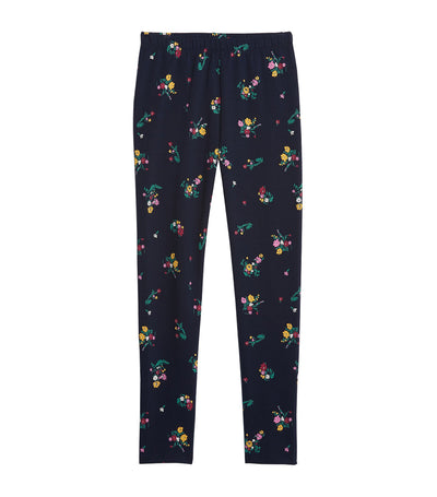 Kids Print Leggings Navy Floral