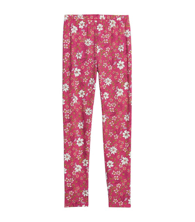 Kids Print Leggings Bright Beet
