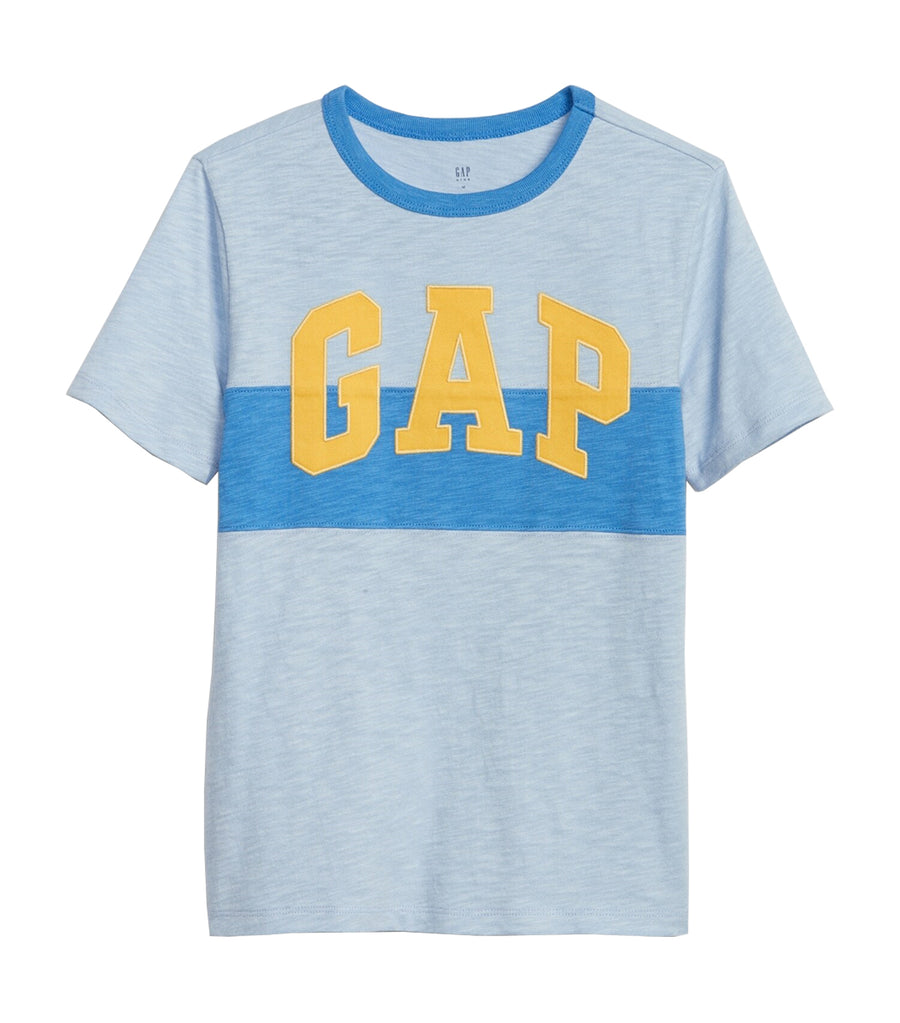 gap kids light blue shadow logo t-shirt