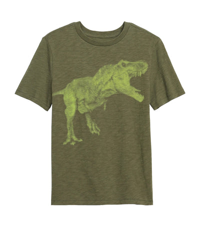 gap kids tentacle graphic t-shirt - army jacket green