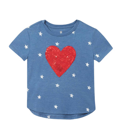 Kids Graphic T-Shirt - Icon Heart Red