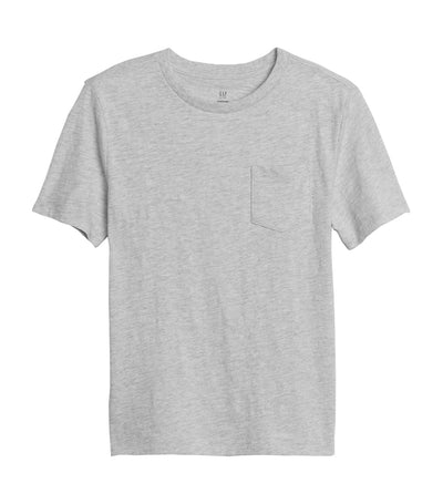 Kids Organic Pocket T-Shirt - Grey Heather B03