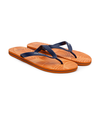 hackett palm tree flip-flops orange