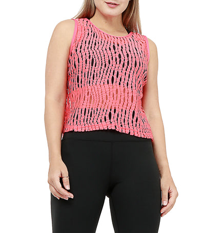atsui hanako sleeveless layer top pink