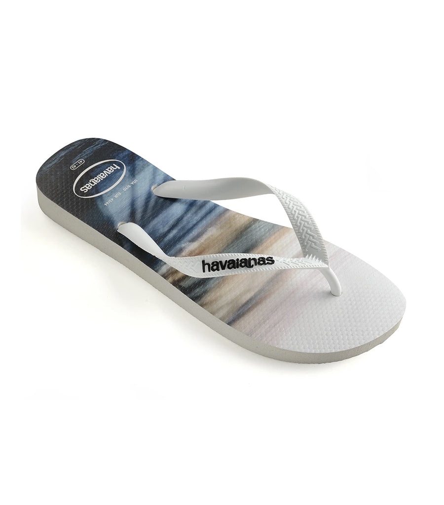 Havaianas Men's Hype Flip Flops - White and Blue Sky