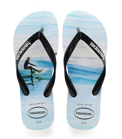Havaianas Men's Hype Flip Flops - White and Wave