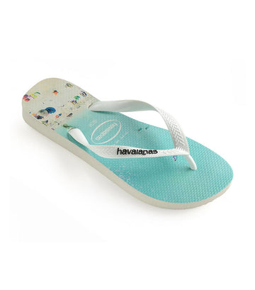 Havaianas Men's Hype Flip Flops - White and Water