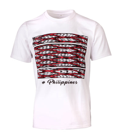 rustans home multi t'nalak t-shirt white
