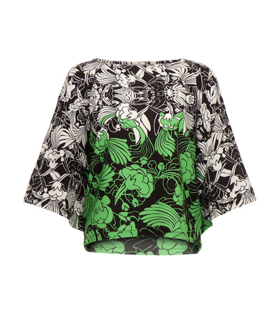 criselda jocel loose angel sleeve top printed