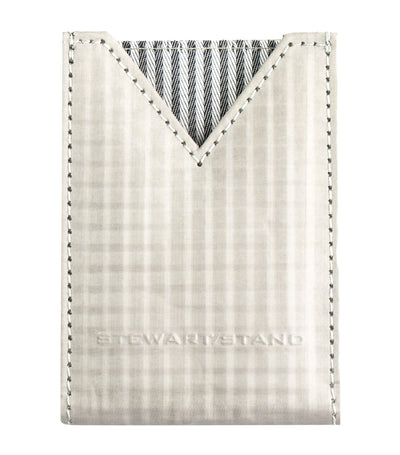 stewart/stand textured v-pouch card case silver