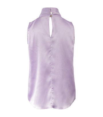 pedro del hierro lilac high neck sleeveless top