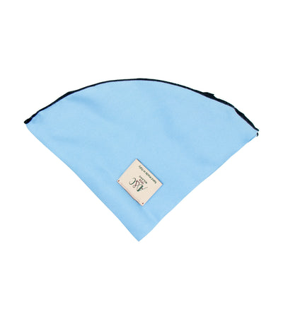 ad&c 1956 milano round pocket square silk twill 33cm skyblue