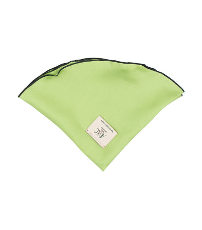 ad&c 1956 milano round pocket square silk twill 33cm green