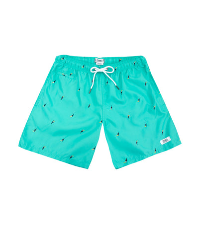 Trunks Surf & Swim Co. Swim Shorts - Seafoam Green and Toucan