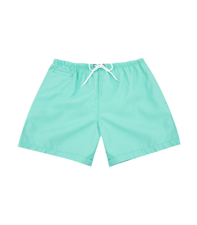 Trunks Surf & Swim Co. Swim Shorts - Seafoam and White