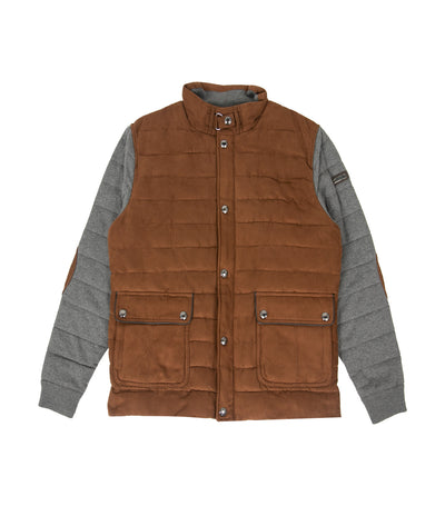 pedro del hierro man combination jacket with cushioned body brown