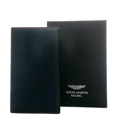 hackett aston martin racing collection leather wallet bi-ford navy