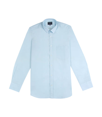 ricardo preto pasteur light long-sleeved dress shirt blue