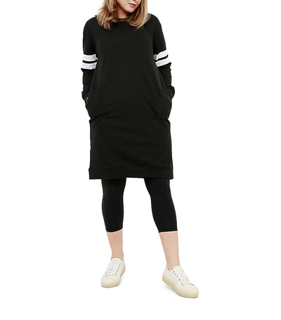 atsui iwa sweater dress black