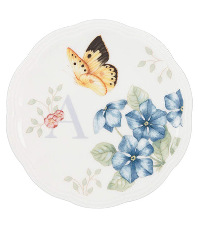 Lenox Butterfly Meadow Small Dish Initial A