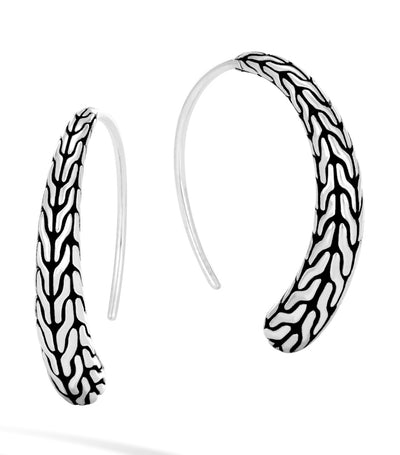 john hardy classic chain silver small hoop earrings