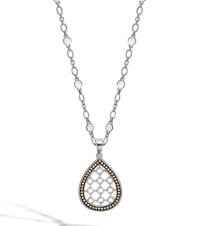john hardy dot 18k gold and silver drop pendant necklace