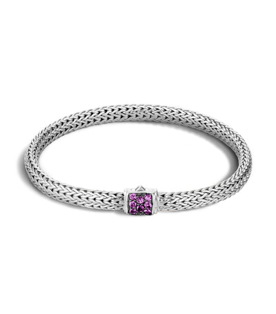 john hardy classic chain silver lava extra small bracelet with amethyst